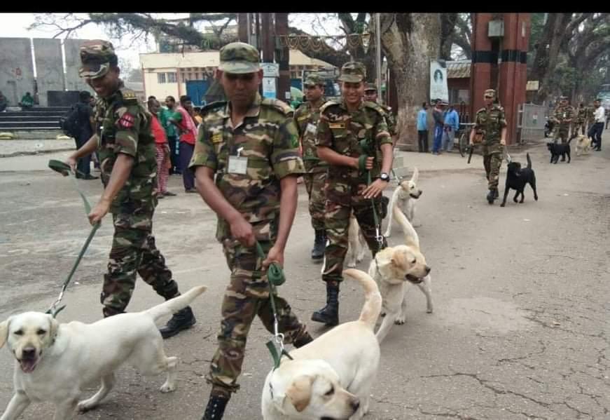 বেনাপোলে সেনাবাহিনীকে ১০ টি ডগস্কোয়াড দিল ভারতীয় সেনাবাহিনী