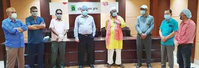 চট্টগ্রাম প্রেসক্লাবে সাংবাদিকদের করোনা টেস্টের নমুনা সংগ্রহ শুরু
