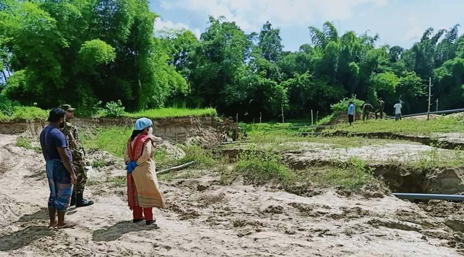 মানিকছড়িতে অবৈধ বালু উত্তোলন