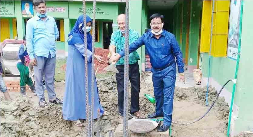 পি.সি.সেন সারোয়াতলী বিদ্যালয়ের ওয়াশ ব্লক নির্মাণ কাজের উদ্বোধন