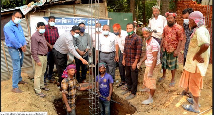 চট্টগ্রামে সিভিল সার্জন কার্যালয়ে মসজিদ নির্মাণ কাজের উদ্বোধন