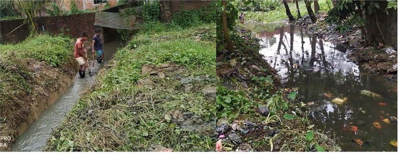 সাতকানিয়া পৌরসভার নালা নর্দমা পরিস্কার ও পুন:খননের তৎপরতা
