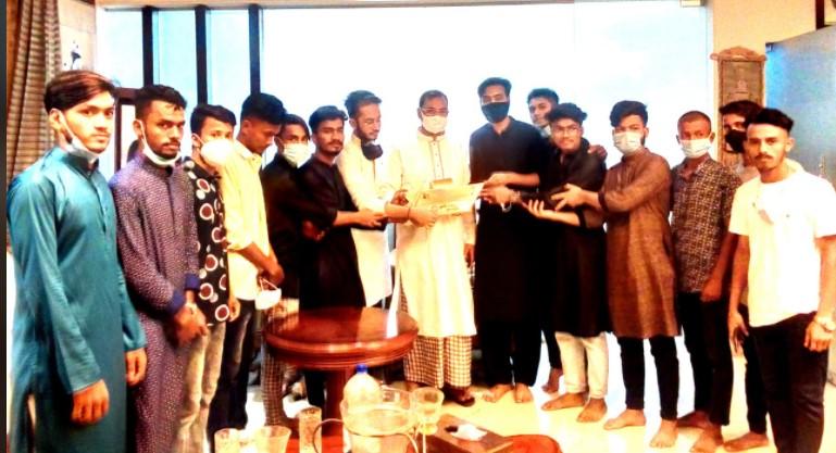 আ জ ম নাছির উদ্দীনের সাথে স্বেচ্ছাসেবকলীগ- ছাত্রলীগের ঈদ শুভেচ্ছা বিনিময়