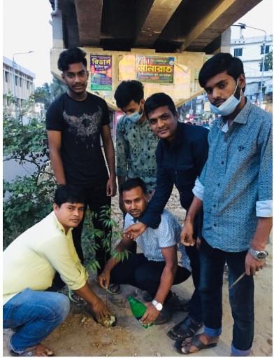 চান্দগাঁও থানা ছাত্রদলের বৃক্ষ রোপন কর্মসূচি পালন